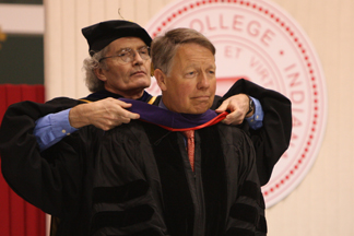 David Kendall receives honorary degree in law in 2010.