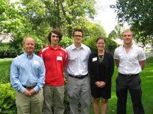 Dr. Rhys Rudolph, Ronnie Posthauer '15, Jack Montgomery '15, Kathryn Diekhoff, and Andrew Tyler '15.