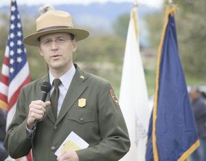 Greg educating a group during a National Park's program.