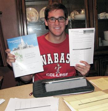 Luke as a student intern health intern.