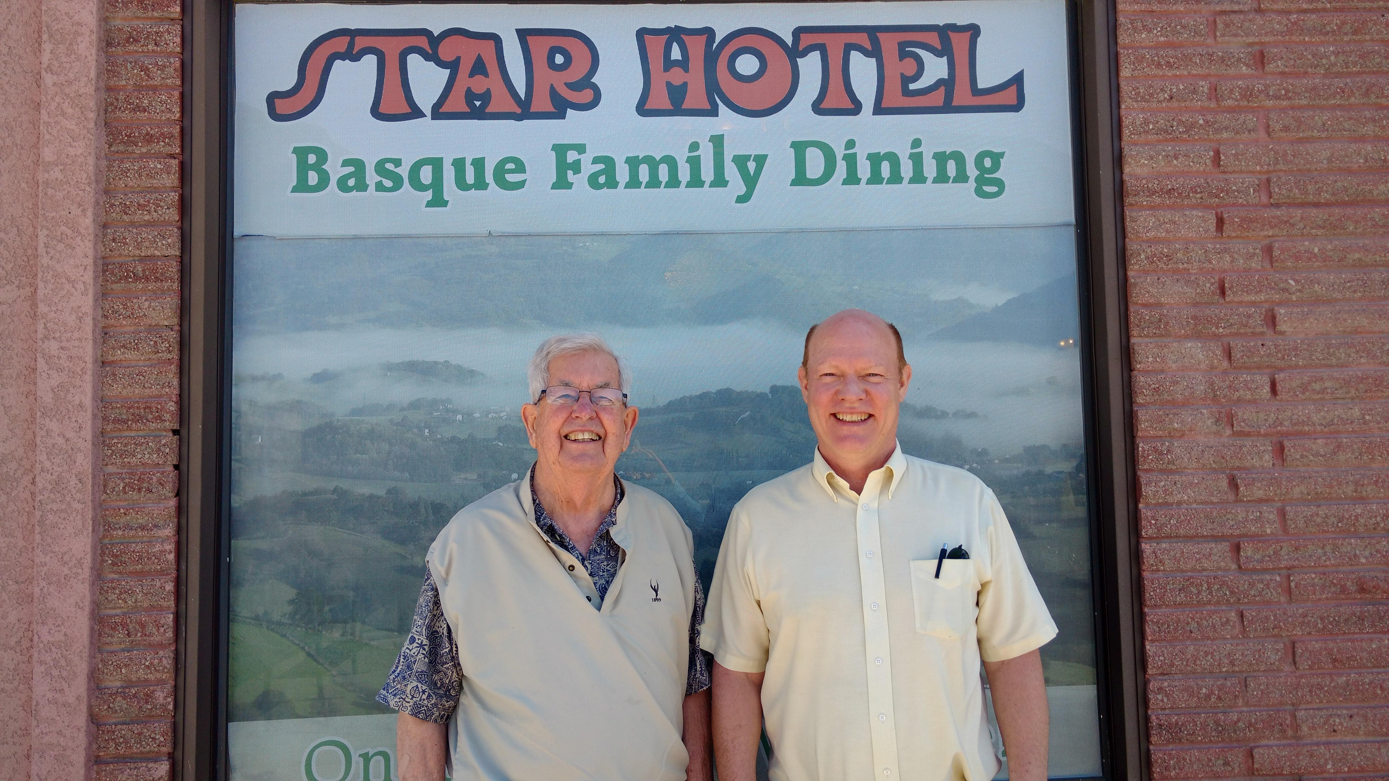 Hugh Collett (left) and Bill Payne.
