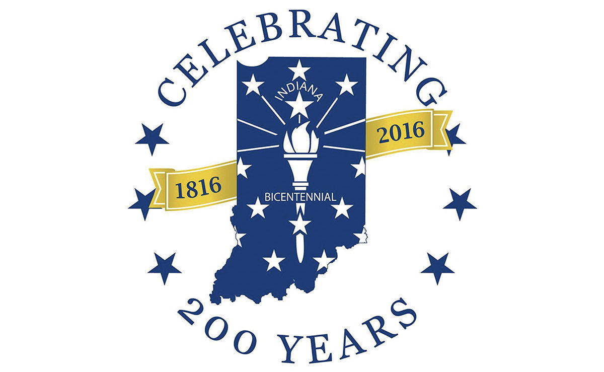 Indiana 200 years logo