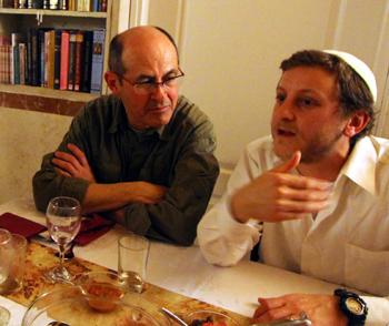 Prof. Gilberto Gomez listening to Benjamin discuss life in Israel.