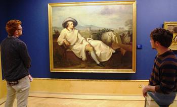 David Boyer and Daniel Craig study Goethe