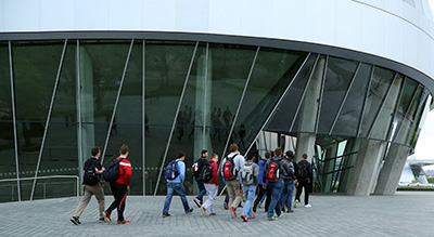 Over the weekend, students had the chance to visit a Mercedes-Benz Museum.