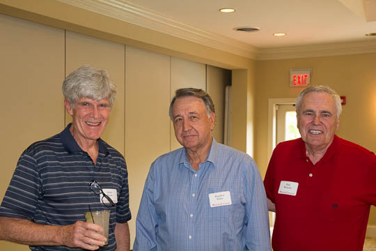 Jerry Boyer '65, Steve Babic '65 and Phil Wescott '65.  Boyer and Babic last saw reach other at Commencement!