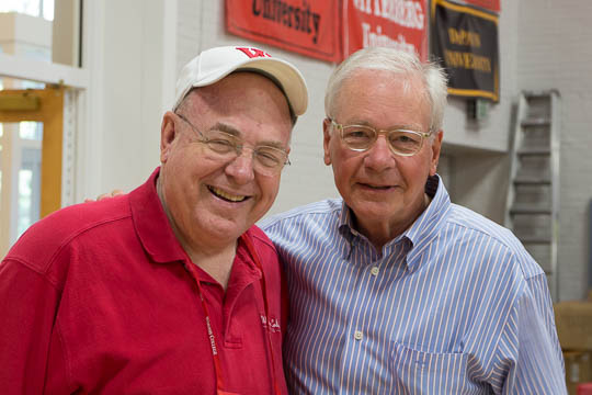 Long-time class agent Morrie Adsams '65 and Trustee and Class Gift Chairman Allan Anderson '65